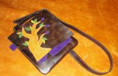 Alle lederen iPad Messenger Bag (fig tree motif)