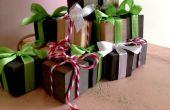 Mini kerstcadeau kubussen