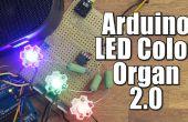 DIY Arduino LED kleur orgel 2.0