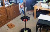 Lamp met vinyl record planken