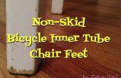 Anti-slip stoel voeten uit gerecycleerd binnenband