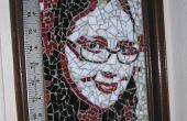 Maak een gebrandschilderd glas mozaïek portret van een foto.