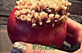 Inside-out karamel appels
