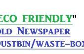 Eco vriendelijke papier / krant vuilnisbak