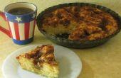 Bruine suiker & zure room koffie taart