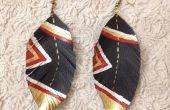 Zin in leder (Feather) oorbellen