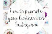 Hoe Promoot uw bedrijf op Instagram