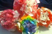 Origami peony bloemen