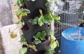 Plant toren gemaakt uit PVC pijp (15 zakken)