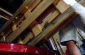 Drijvende plank laadstation van Pallet hout