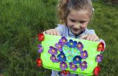 DIY tas van gerecycled platen | DIY vaartuig voor kleine meisjes