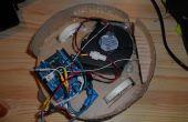 Vloer stofzuiger robot - gecontroleerd door Arduino met motor shield, met afgedrukt motor-wielen