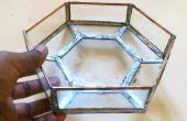 Gebrandschilderd glazen kom met behulp van bladkoper en soldeer