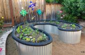 Verhoogd Bed tuin van dakbedekking plaatwerk