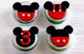 How to make Mickey Mouse Cupcake en taart Toppers