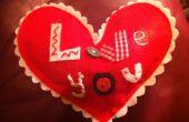Hart kussen 'Ik hou van je'