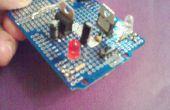 Breadboard Power Supply met een schuif schakelaar voor selecteren spanning