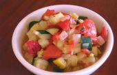 Gemarineerde pompoen en geroosterde Pepper Salade