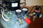 Stille Compressor gebouwd van een oude koelkast/Water Cooler Super