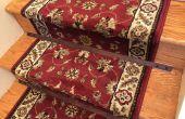 Houten trap stangen voor een deken-runner