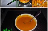Zelfgemaakte pompoen soep