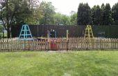 Pallet-hout tuin hek