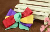 Hoe maak je een haar clip met kleurrijke linten