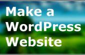 Hoe het bouwen van een eenvoudige website met WordPress