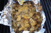 Super gemakkelijk Cheesy BBQ aardappelen