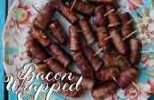 Bacon Wrapped worstjes!
