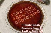 Turks fruit Brownie taart w drijvende binaire Pi