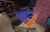 Verwarmd zwembad in Minecraft