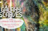 Galaxy sjaals met tuimelen kleurstof schildert