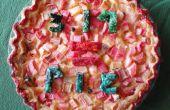 Rabarber vla Pi = taart
