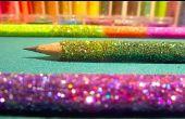 DIY Ombre Glitter potloden