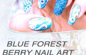 Forest Blue Berry Nail Art Design