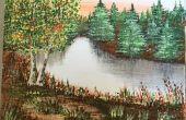 Acryl landschap schilderij