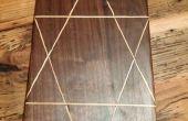 Cutting Board van Black Walnut en 2 x 4 Inlay