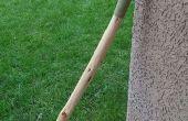 Hoe maak je een lederen handvat voor een wandelstok