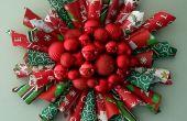 Verpakking papier kerst krans