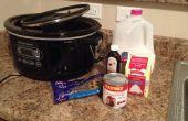 Slow cooker warme chocolademelk
