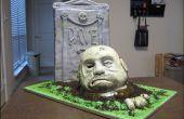 Hoe maak je een gebeeldhouwde zombie taart.