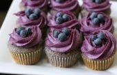 Blueberry Cupcakes met Blueberry roomkaas Frosting