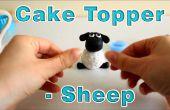 Hoe maak je een suiker plakken Icing Fondant schapen taart Topper