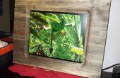 17-inch fotolijst gemaakt uit één stuk hout Slab (voor Digital Picture Frame)