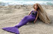 Zeemeermin staart voor poppen breien