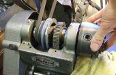 Een Myford ML10 draaibank (10 Speed) kop - taper rollagers strippen