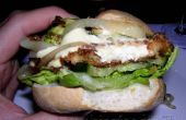 Hamburger van de vegetarische haloumi met al haar toeters en bellen!