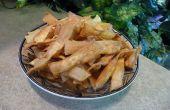 Hoe bak tot krokant ei Noodle Chips