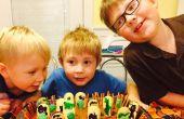 Kids begraafplaats Halloween taart